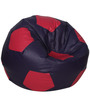 Football XXL Bean Bag with Beans in Purple and Pink Colour by Sattva