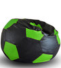 Football Bean Bag XXL size in Black & Green Colour with Beans by Style Homez