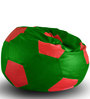 Football Bean Bag XXL size in Green & Red Colour with Beans by Style Homez