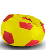 Football Bean Bag XXL size in Yellow & Red Colour with Beans by Style Homez