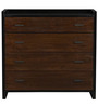 Forca Four Drawer Chest in Black and brown Colour by Asian Arts