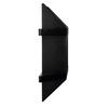 Forzza Black MDF Aldo Lacquered Wall Shelf