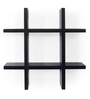 Forzza Black MDF Ted Lacquered Wall Shelf