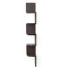 Forzza Wenge Engineered Wood Vincent Corner Wall Shelf
