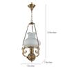Fos Lighting  White & Gold Brass & Glass Pendant