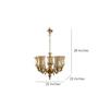 Fos Lighting 5 Light Brass Chandelier