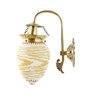 Fos Lighting Yellow Mosaic Bead Oval Wall Hanging Light