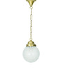 Fos Lighting patterned Brass Pendant