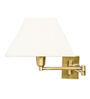 Fos Lighting White Fabric Wall Light