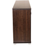 Chikako Four Door Storage Cabinet in Wenge Finish by Mintwud