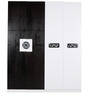 Four Door Wardrobe in Black & White Duco Paint by Parin