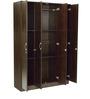 Takuma Four Door Wardrobe in Wenge Finish by Mintwud