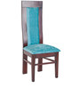 Four Seater Dining Set in Brown & Blue Colour by Karigar