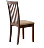 Contagem Four Seater Dining Set in Dark Brown Colour by CasaCraft