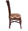Four seater Dining Set with Glass Top in Brown Colour by Karigar