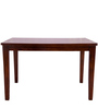 Four Seater Dining Table in Brown Polish by Karigar