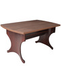 Four Seater Dining Set with Four Chairs & MDF Top in Rosewood & Walnut Colour by Crystal Furnitech