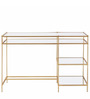 Four Tier Study Desk in Golden Colour by Asian Arts