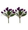 Fourwalls Purple Artificial Tulip Bunch Set