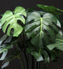 Fourwalls Green Polyester Philodendron Plant In Ceramic Pot