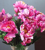 Fourwalls Purple Fabric Gorgeous Artificial Synthetic Peony Bunch