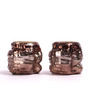Foyer Copper Glass Tealight Candle Holder - Set of 2