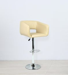 Franco Bar Chair In Cream Color By The Furniture Store