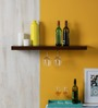 Fragments Ebony MDF Floating Shelf with Goblet Holder