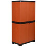 Freedom Mini Shoe Cabinet in Rust & Weather Brown Colour by Nilkamal