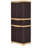 Freedom Multipurpose Cabinet with One Drawer in Brown & Biscuit Colour by Nilkamal
