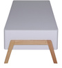 Fressia Coffee Table in White and Walnut Finish by Evok