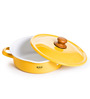 Fujihoro 2300 ML Casserole With Lid - Yellow