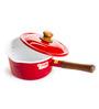 Fujihoro 2300 ML Sauce Pan with Lid - Red