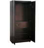 Fully Podwer Coated Metallic Two Door Wardrobe in Brown Color by Delite Kom