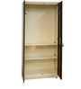 Fully Podwer Coated Two Door Wardrobe in Ivory & Brown Color by Delite Kom