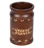 Furncoms Brown Wooden Pen Stand