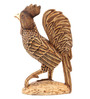 Furncoms Brown Wooden Rooster Standing Showpiece