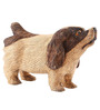 Furncoms Brown Wooden Standing Dog Showpiece
