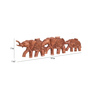 Furncoms Rosewood Wooden Elephant March Showpiece