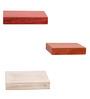 Furnicheer Multicolour Mango Wood Wall Shelf - Set of 3