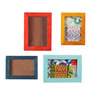 Furnicheer Multicolour Mango Wood 4-piece Photo Frame Collage