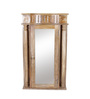 Furniselan Brown Mango Wood Dressing Mirror