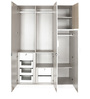 Fusion Three Door Wardrobe in White Colour by @ Home
