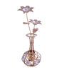 G n G 24K Gold Plated with Swarovski Crystals Flower Vase Showpiece