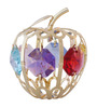 G n G 24K Gold Plated with Swarovski Crystals Mini Apple Showpiece