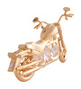 G n G 24K Gold Plated with Swarovski Crystals Harley Davidson Motor Cycle Showpiece