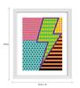 Gabambo Paper 12 x 1 x 14.5 Inch Pop Art Lightning Wooden Framed Poster