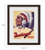 Gabambo Paper 12 x 1 x 14.5 Inch Vintage Indiana Cigar Wooden Framed Poster