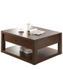 Gabriel Square Coffee Table in Brown Colour by Asian Arts