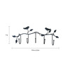 Gac Trend Black Iron Bird Key Holder